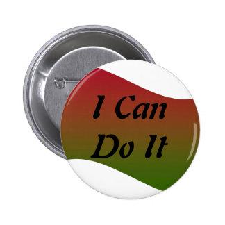 Ich kann es tun Knopf Runder Button 5,1 Cm