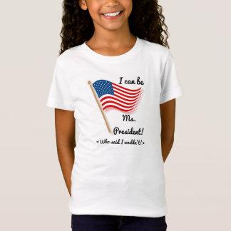 Ich kann Frau Präsident Colorful Patriot sein T-Shirt
