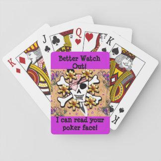 Ich kann Ihre Poker-Gesichts-Karten lesen Spielkarten