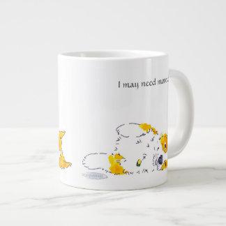 Ich kann mehr Kaffeecorgi-Tasse benötigen Jumbo-Tasse