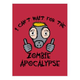 Ich kann nicht die ZOMBIE-APOKALYPSE warten! Postkarte