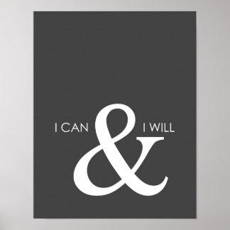 Ich kann und ich werde motivierend Plakat