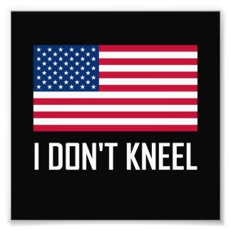 Ich knie nicht Flagge-Nationalhymne Fotodruck