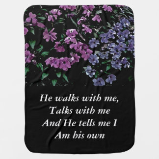 Ich komme zur Garten-allein Blumenbaby-Decke Kinderwagendecke