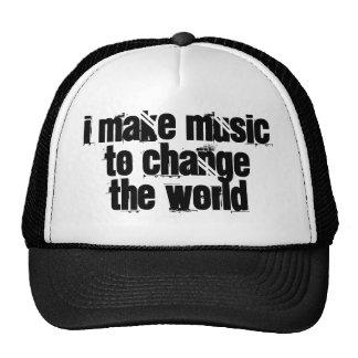 Ich lasse Musik die Welt ändern Baseball Mützen