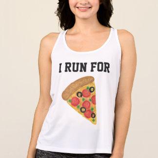 Ich laufe für Pizza Tank Top