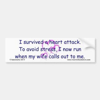 Ich laufe jetzt, wenn meine Ehefrau nennt Autoaufkleber