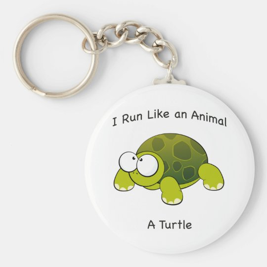 Ich laufe wie ein Tier - eine Schildkröte Schlüsselanhänger