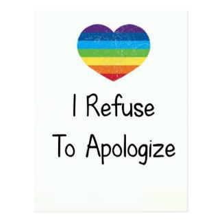 Ich lehne ab mich zu entschuldigen postkarte