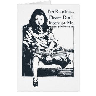 Ich lese Mädchen Karte
