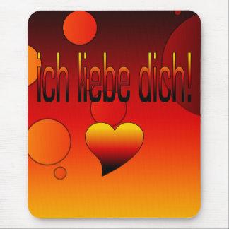 Ich Liebe Dich! Deutsche Flagge färbt Pop-Kunst Mousepads