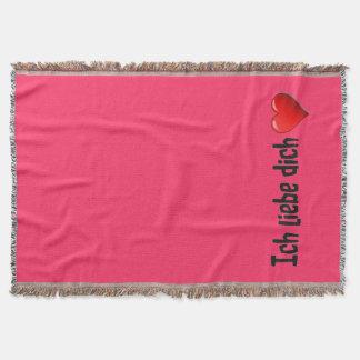 Ich liebe dich - i-Liebe Sie auf Deutsch Decke