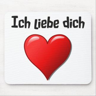 Ich liebe dich - i-Liebe Sie auf Deutsch Mauspads