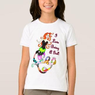 """""""Ich Liebe, die ein Mädchen-"""" Meerjungfrau ist T-Shirt"""