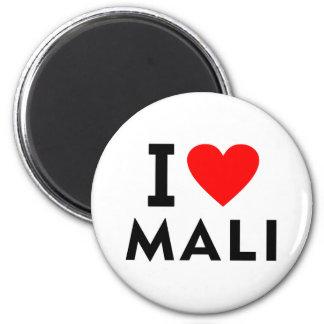 Ich liebe Mali-Land wie Herzreisetourismus Runder Magnet 5,1 Cm