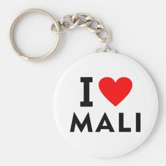 Ich liebe Mali-Land wie Herzreisetourismus Schlüsselanhänger