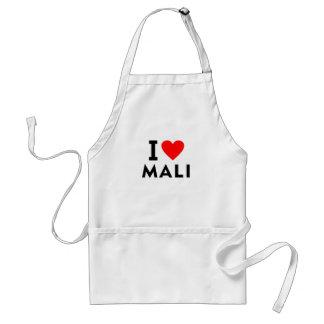 Ich liebe Mali-Land wie Herzreisetourismus Schürze