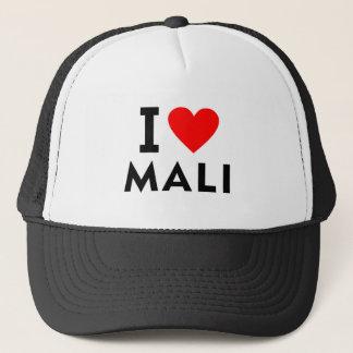 Ich liebe Mali-Land wie Herzreisetourismus Truckerkappe