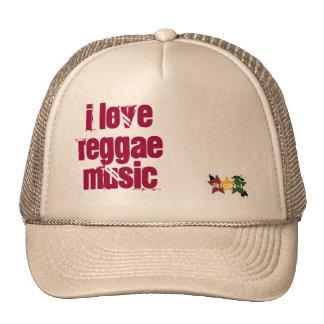 """""""ich Liebe Reggaemusik """" Kappen"""