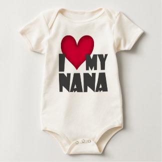 """Ich Liebe Säuglings-Strampler meiner Nanas"" Baby Strampler"