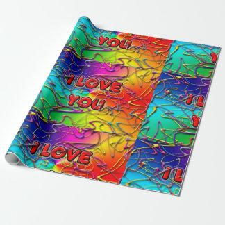 """""""Ich Liebe Sie"""" Verpackungs-Papier Geschenkpapierrolle"""