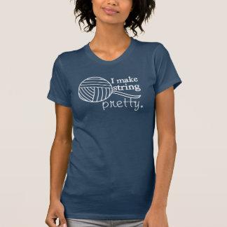 Ich mache Schnur hübsch • Handwerks-Garn {dunkel} T-Shirt