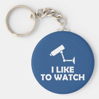 Ich mag CCTV-Videokamera-Aufnahme aufpassen Schlüsselanhänger