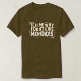 Ich mag (dunkle) Typografie Montage nicht grafisch T-Shirt