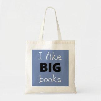 Ich mag GROSSE Buch-Taschen-Tasche Budget Stoffbeutel