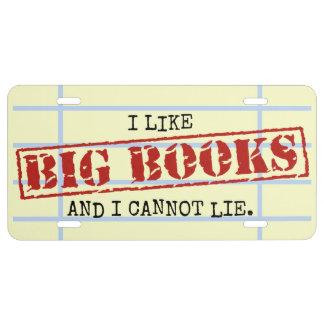 Ich mag große Bücher und ich kann nicht liegen US Nummernschild