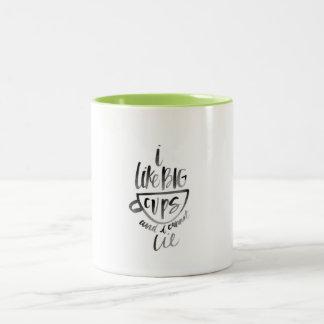 Ich mag große Schalen-Tasse Zweifarbige Tasse