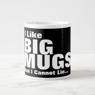 Ich mag große Tassen und ich kann nicht liegen Jumbo-Tasse