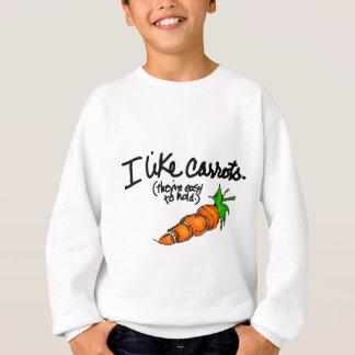 Ich mag Karotten Sweatshirt