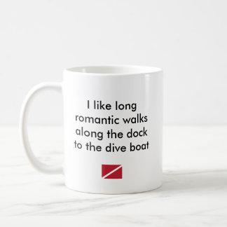 Ich mag langes romantisches… Tauchen-Boot Kaffeetasse