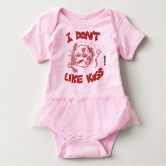 ich mag nicht Cartoon-Bonbonbaby des Kusses Baby Strampler