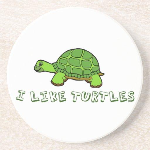 Ich mag Schildkröten Untersetzer