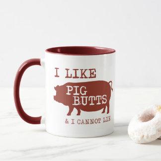 Ich mag Schwein-Hintern-Kaffee-Tasse Tasse