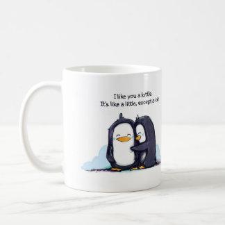 Ich mag Sie ein Lottle Penguins - Tasse
