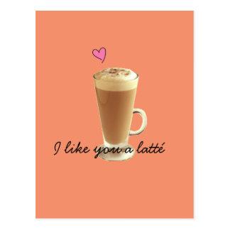 Ich mag Sie eine latté Karte