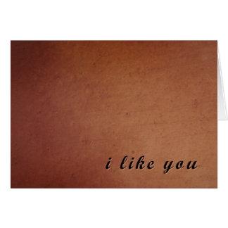Ich mag Sie kardieren Karte