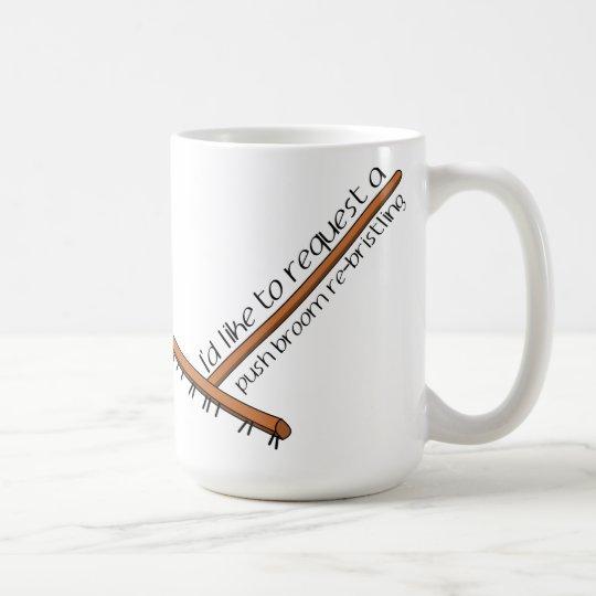 Ich möchte ein Stoß-Besen Re-Sträuben fordern Tasse