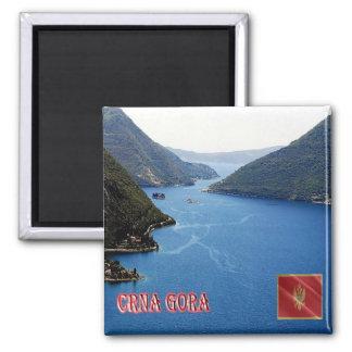 ICH - Montenegro - Golf von Kotor Quadratischer Magnet