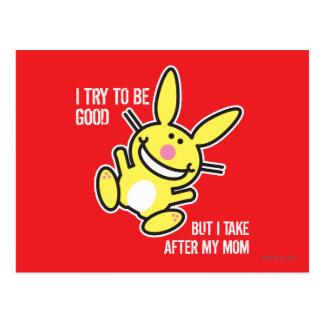 Ich nehme nach meiner Mamma Postkarte