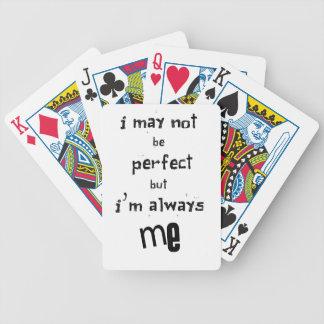 ich nicht bin zwar perfekt, aber ich bin immer ich bicycle spielkarten