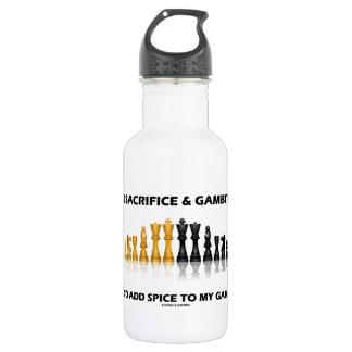 Ich opfere und Gambit, um Gewürz-Spiel-Schach zu Trinkflasche