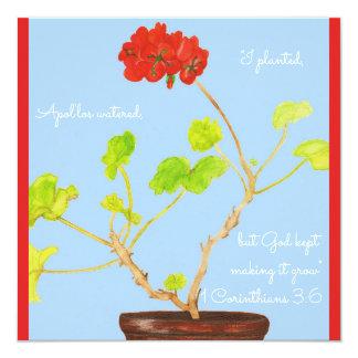 Ich pflanzte… den behaltenen Gott, es zu machen Karte
