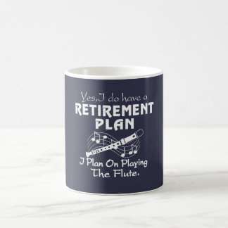 Ich plane auf dem Spielen der Flöte Kaffeetasse