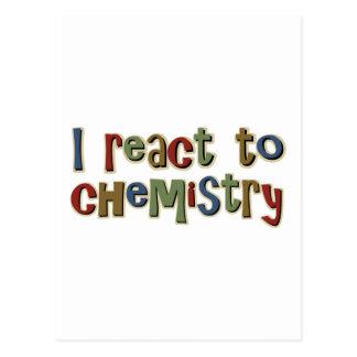 Ich reagiere zur lustigen Chemie Postkarten