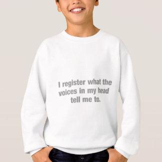 Ich registriere, was die Stimmen mir zu sagen Sweatshirt