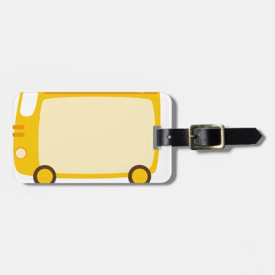 Ich reite den kurzen Bus - GELBES SCHULbus-COMIC Gepäckanhänger